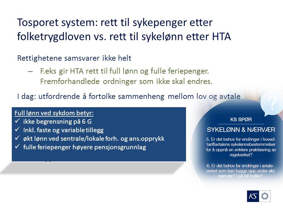 Tosporet system: rett til sykepenger etter folketrygdloven vs.