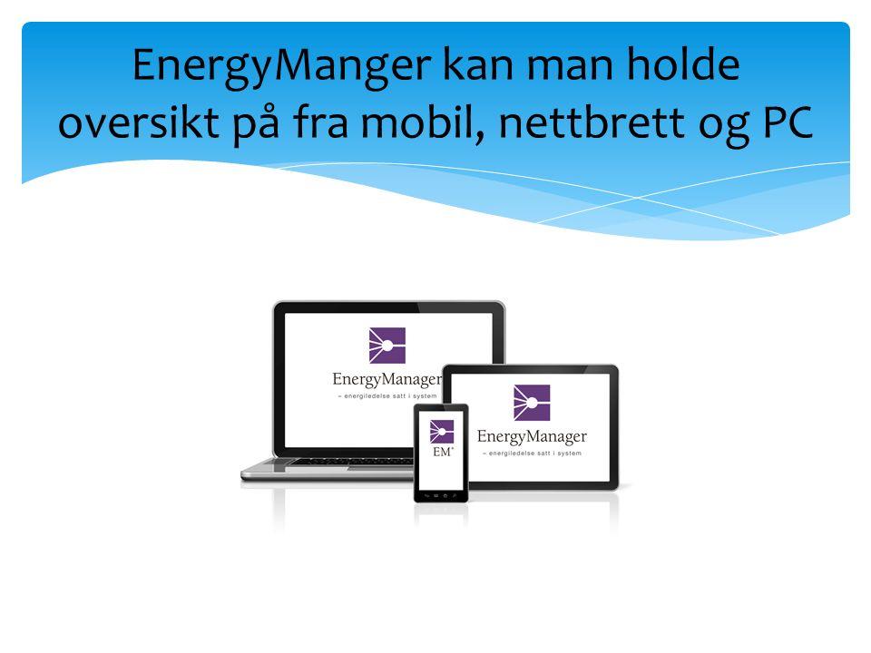 EnergyManger kan man holde oversikt på fra mobil, nettbrett og PC