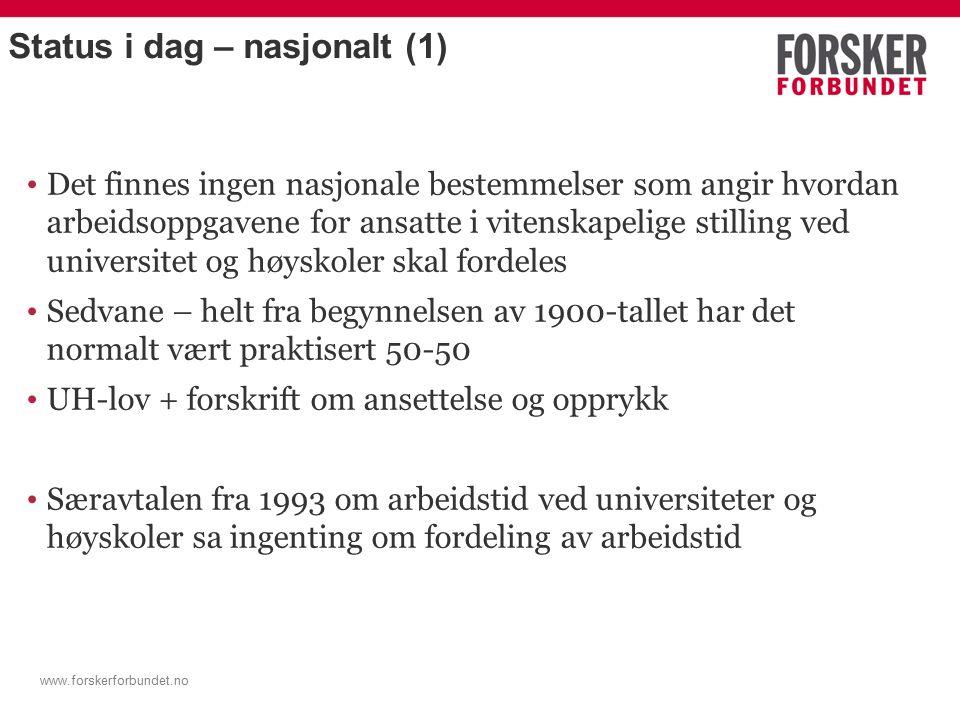 www.forskerforbundet.no Studiepoeng- produksjon på marginalen