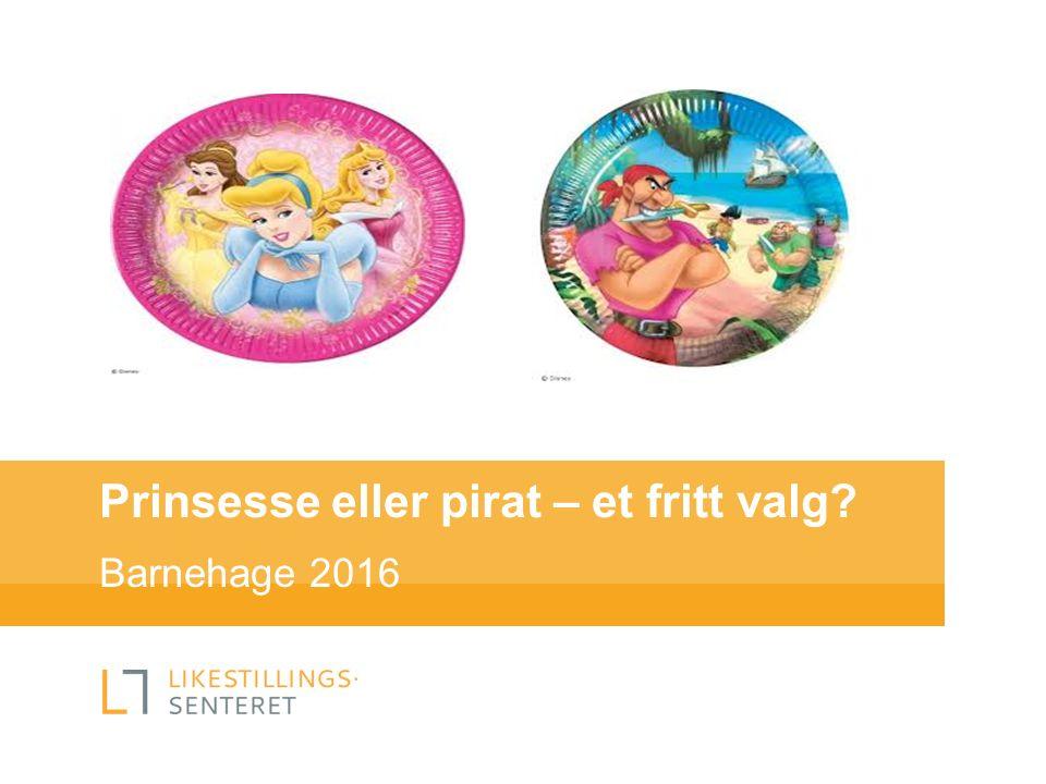 Prinsesse eller pirat – et fritt valg? Barnehage 2016