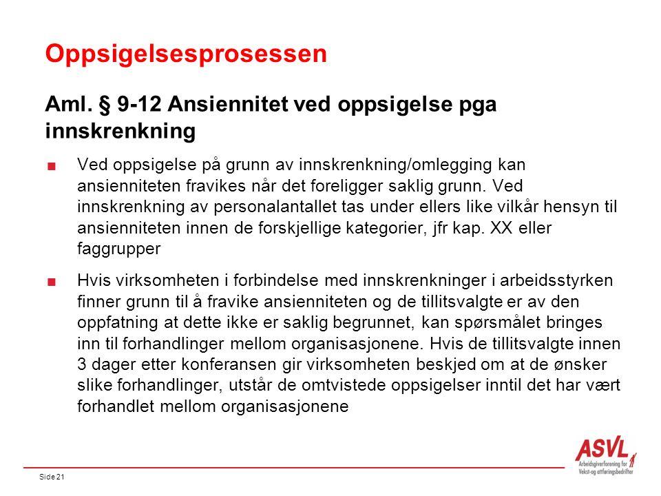 Side 21 Oppsigelsesprosessen Aml.