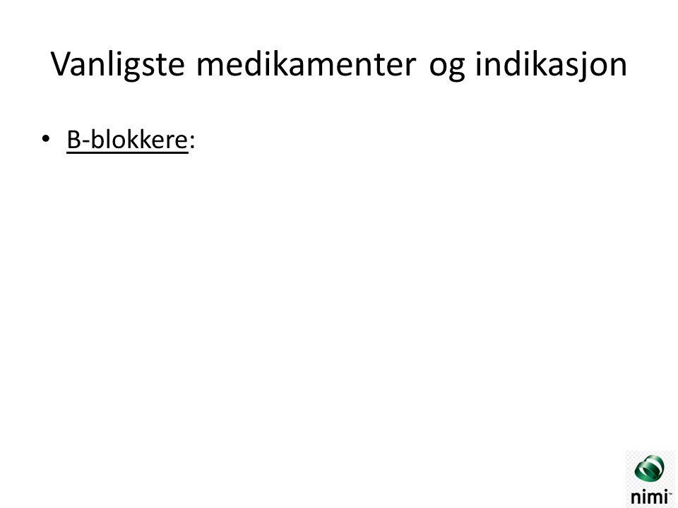 B-blokkere: