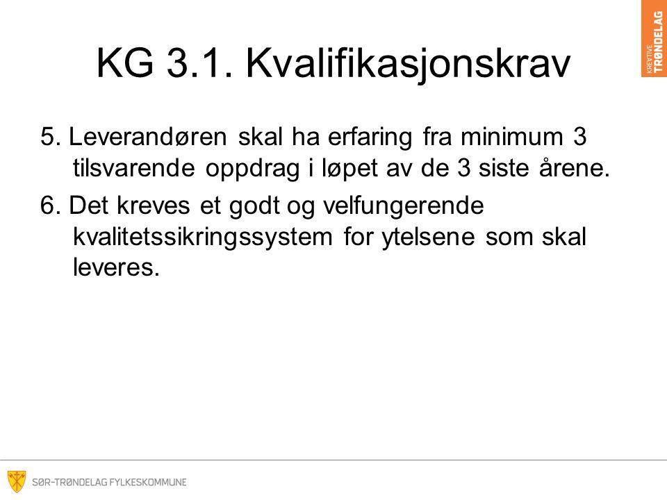 KG 3.1. Kvalifikasjonskrav 5.