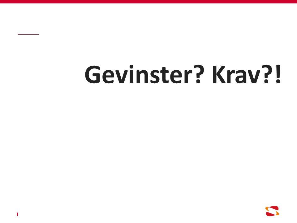 Gevinster Krav !