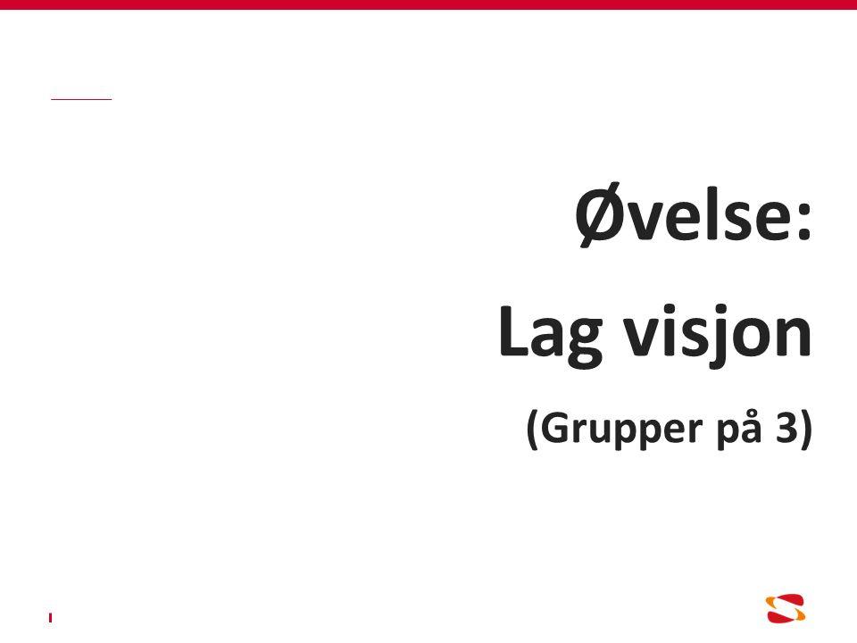Øvelse: Lag visjon (Grupper på 3)