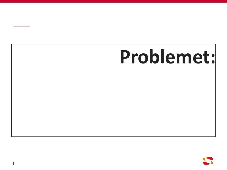 Problemet: