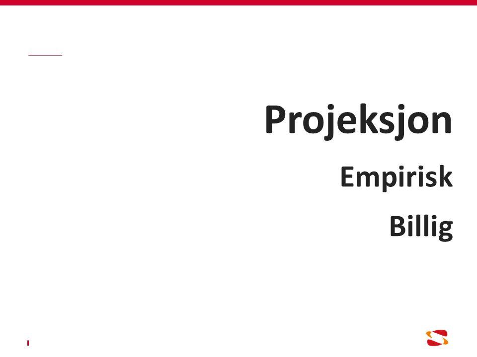 Projeksjon Empirisk Billig