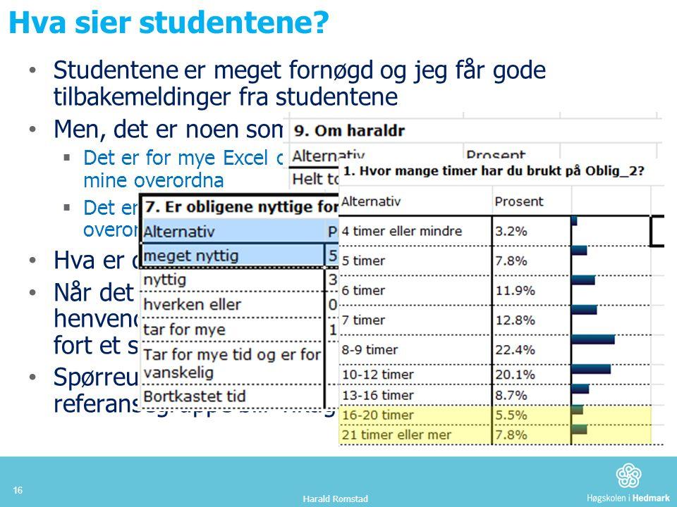 Hva sier studentene.