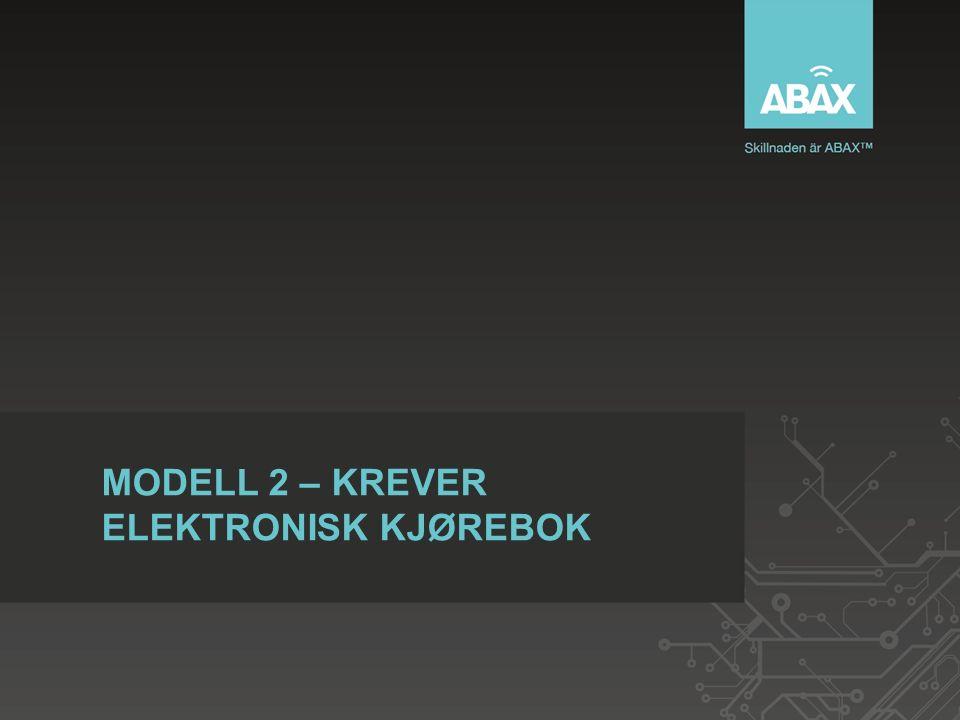MODELL 2 – KREVER ELEKTRONISK KJØREBOK