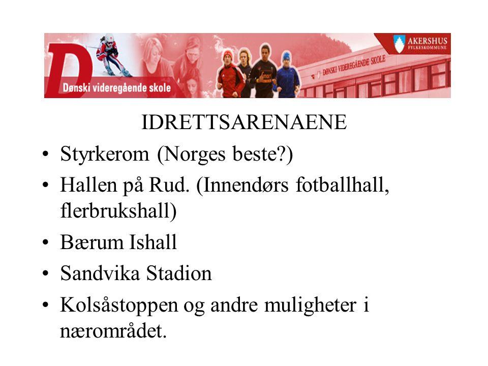 IDRETTSARENAENE Styrkerom (Norges beste ) Hallen på Rud.