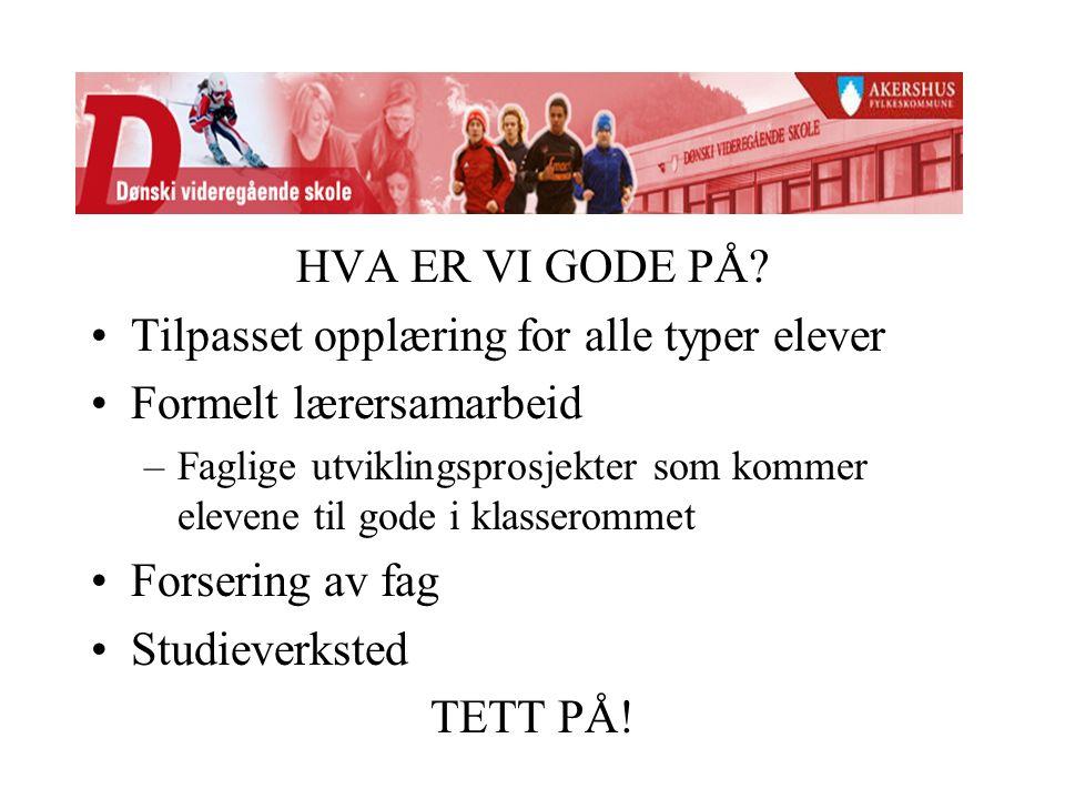 HVA ER VI GODE PÅ.