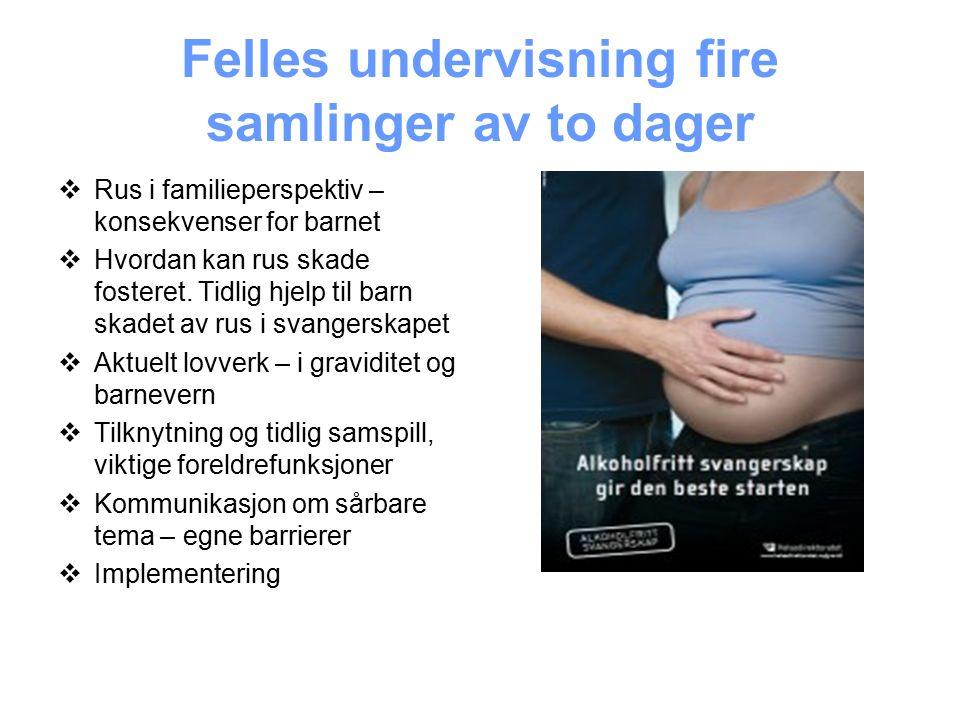 Tidlig intervensjon gravide – alvor og uvanlige muligheter