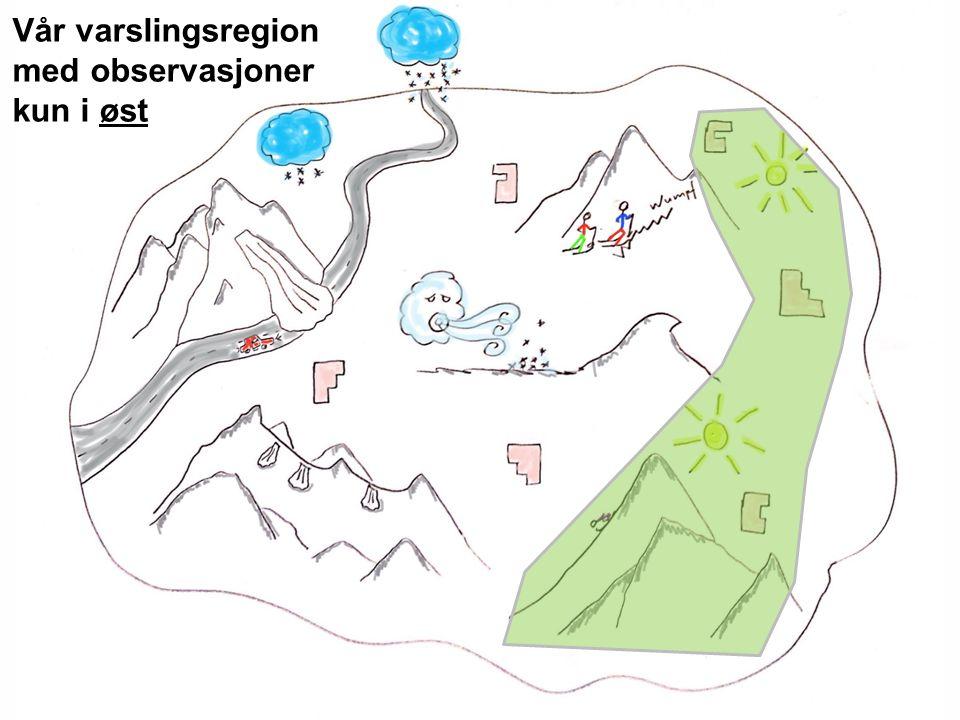 Norges vassdrags- og energidirektorat Vår varslingsregion med observasjoner kun i øst