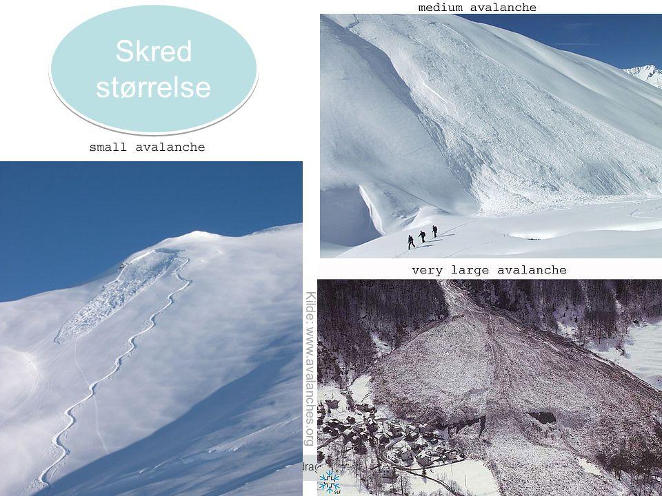 Norges vassdrags- og energidirektorat Kilde: www.avalanches.org Skred størrelse