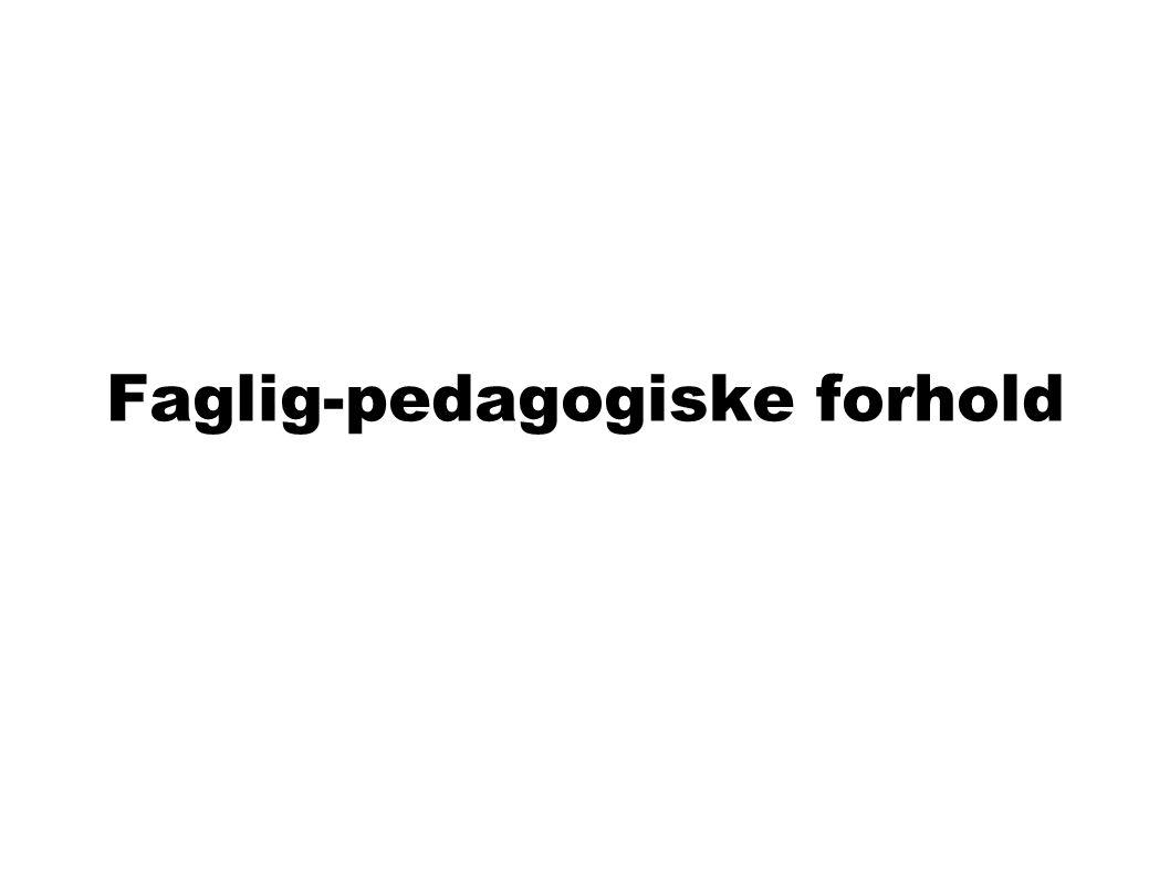 Faglig-pedagogiske forhold