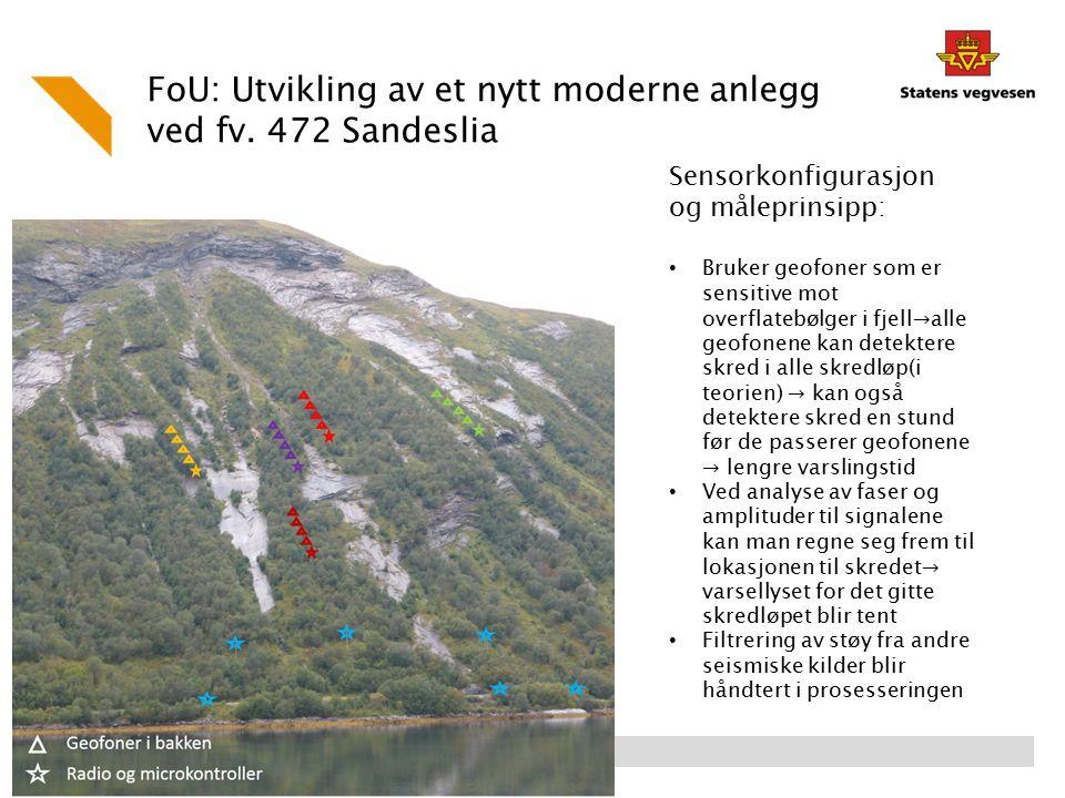 FoU: Utvikling av et nytt moderne anlegg ved fv. 472 Sandeslia