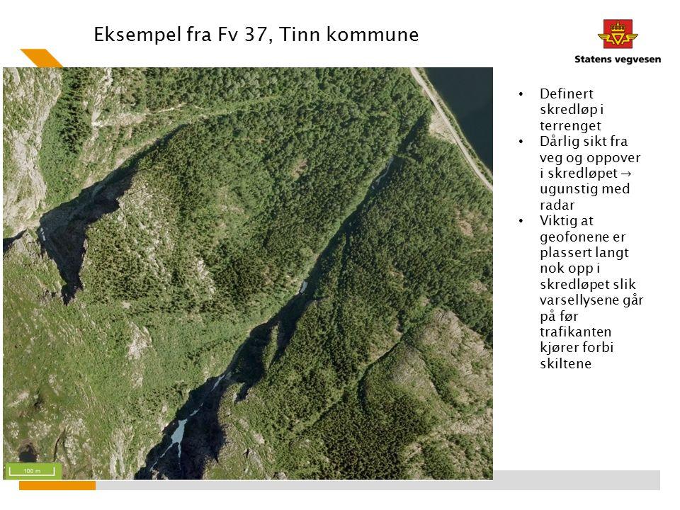 Eksempel fra Fv 37, Tinn kommune