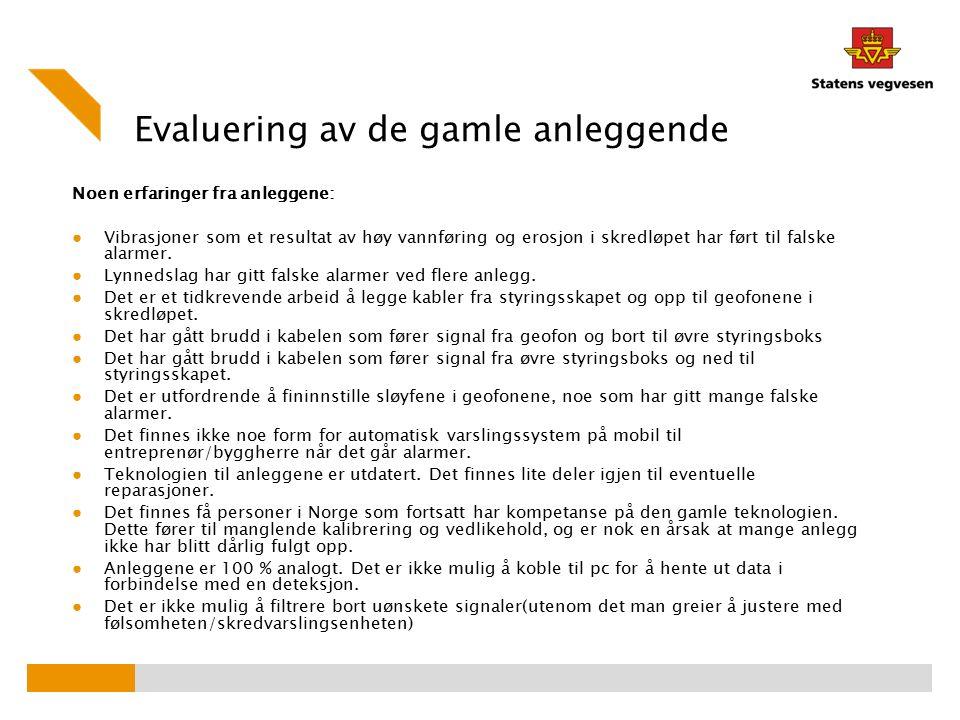 FoU: Utvikling av et nytt moderne anlegg ved fv.472 Sandeslia Hva er nytt.