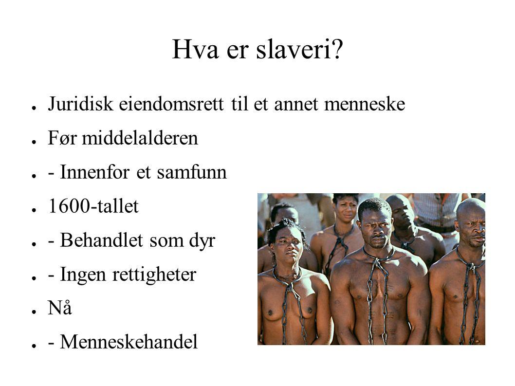 Hva er slaveri.