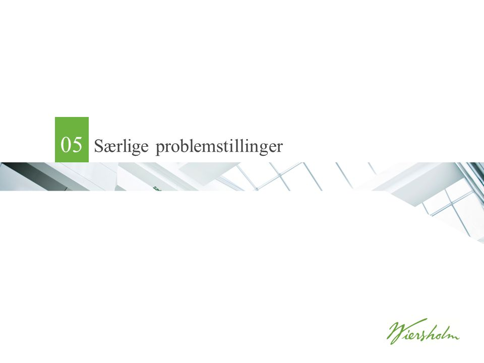 Særlige problemstillinger 05