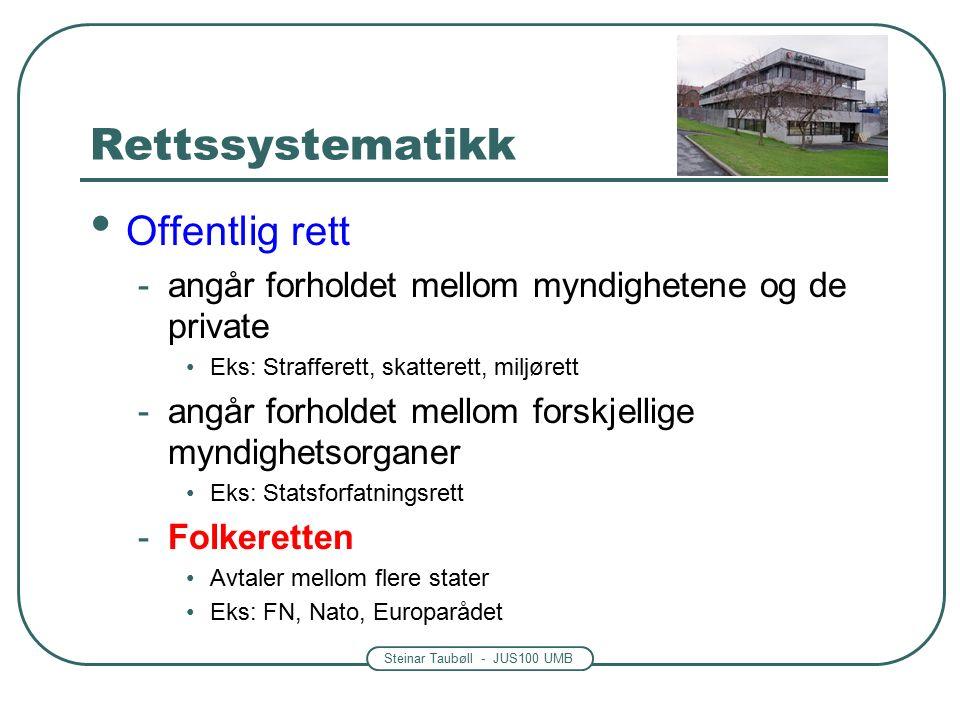 Steinar Taubøll - JUS100 UMB Fiskekvotedommen oktober 2013 http://www.nrk.no/nordnytt/far-ikke- evigvarende-fiskekvoter-1.11313831 Høyesterettsdom - Rt.