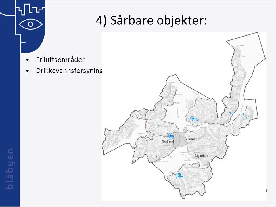 4) Sårbare objekter: Friluftsområder Drikkevannsforsyning
