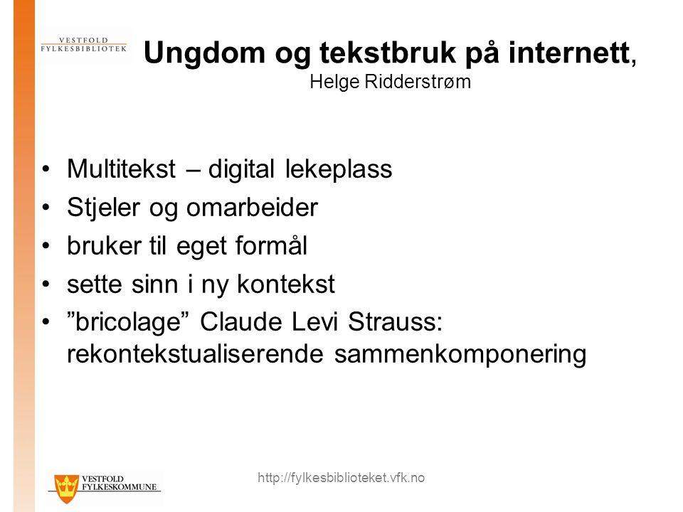 http://fylkesbiblioteket.vfk.no Framtidens barnebibliotek – værested, gjørested eller lærested.