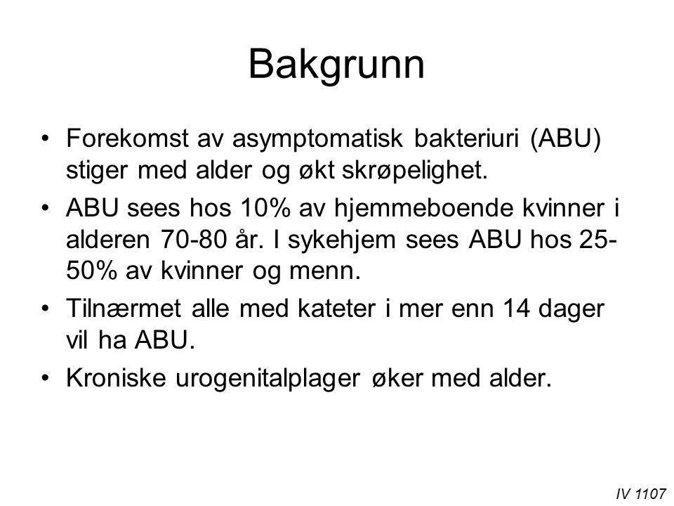 IV 1107 Behandle ABU hos eldre.