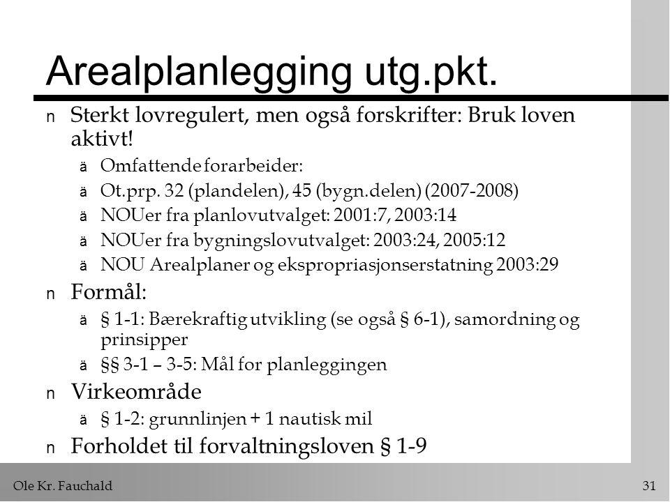 Ole Kr.Fauchald 31 Arealplanlegging utg.pkt.
