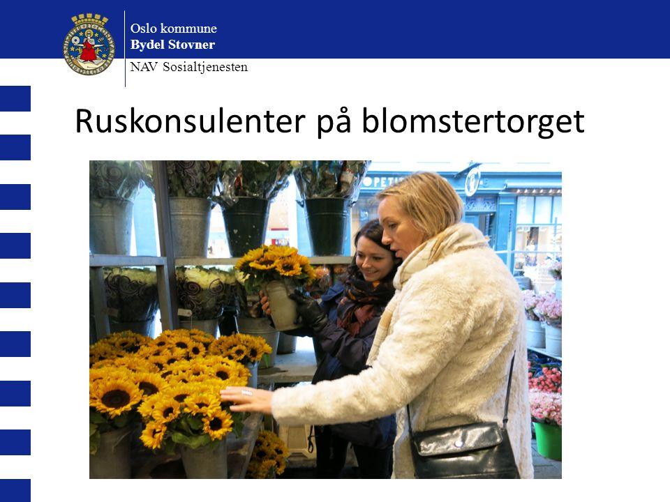 Oslo kommune Bydel Stovner NAV Sosialtjenesten Ruskonsulenter på blomstertorget