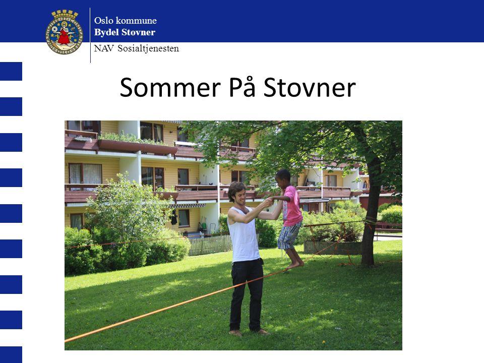 Oslo kommune Bydel Stovner NAV Sosialtjenesten Sommer På Stovner