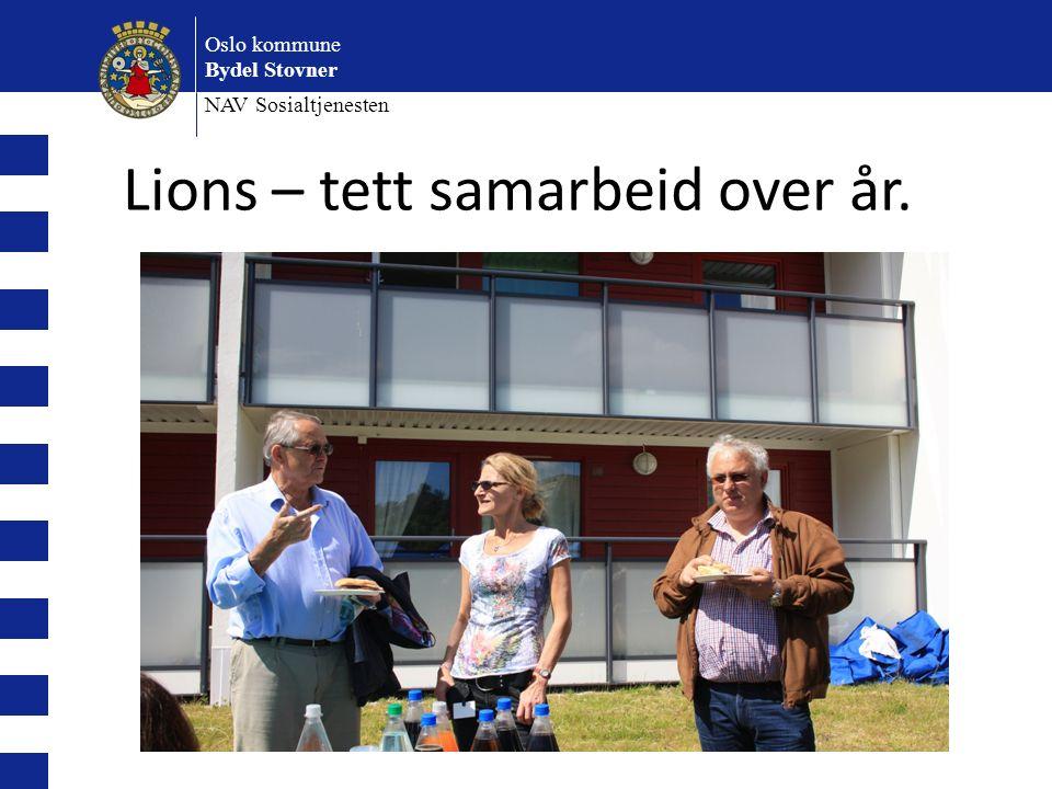 Oslo kommune Bydel Stovner NAV Sosialtjenesten Lions – tett samarbeid over år.