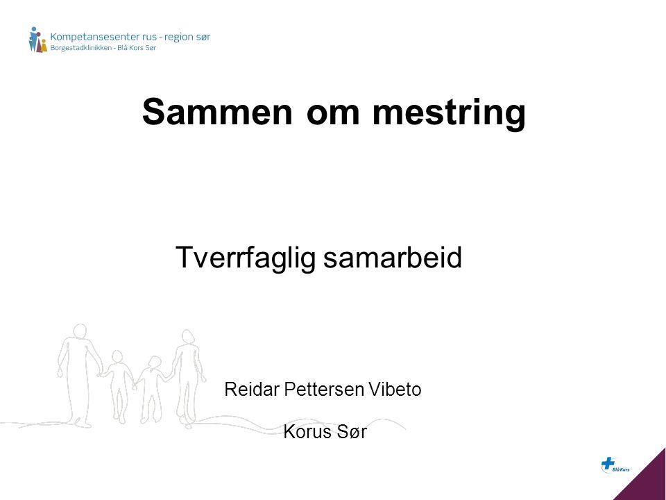 Sammen om mestring Tverrfaglig samarbeid Reidar Pettersen Vibeto Korus Sør