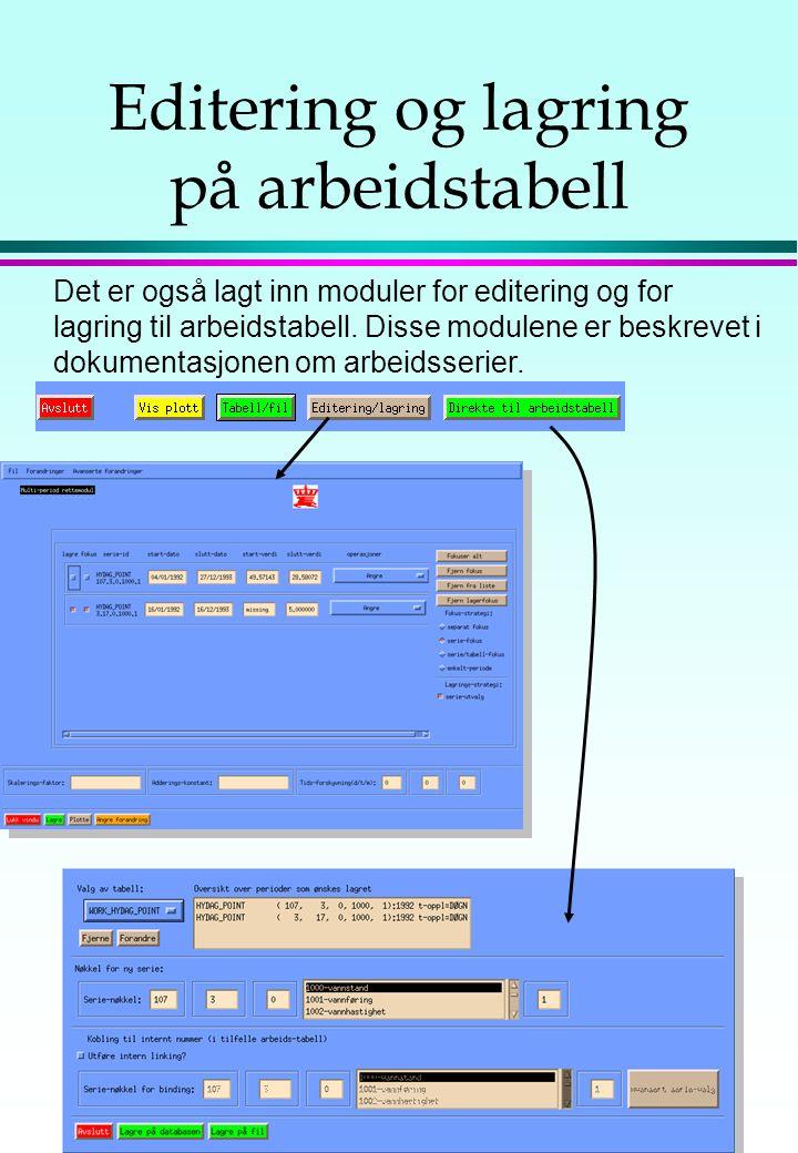 Mer om tekst-tabeller(2) Etter at man har valgt utskrifts-format, kan man vise tabellen på skjermen, skrive den ut eller sende den til en fil. Mulighe