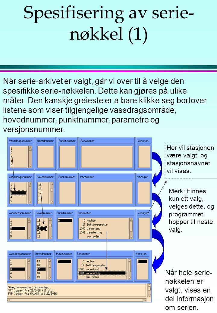 Om skjerm-tabeller En kan også få ut data som tabeller på skjermen.