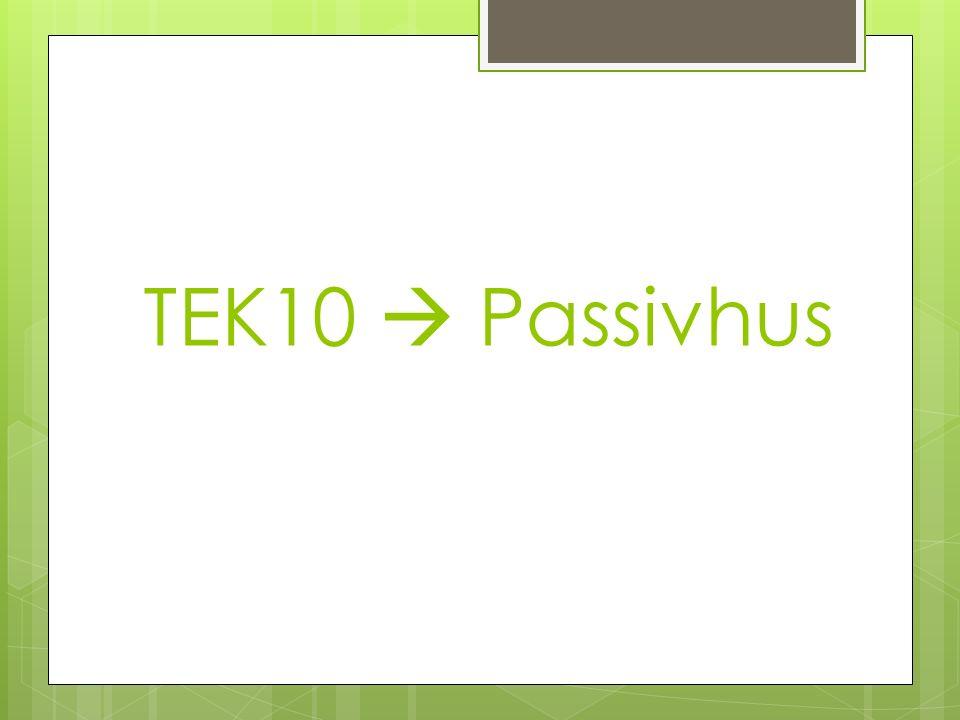 TEK10  Passivhus