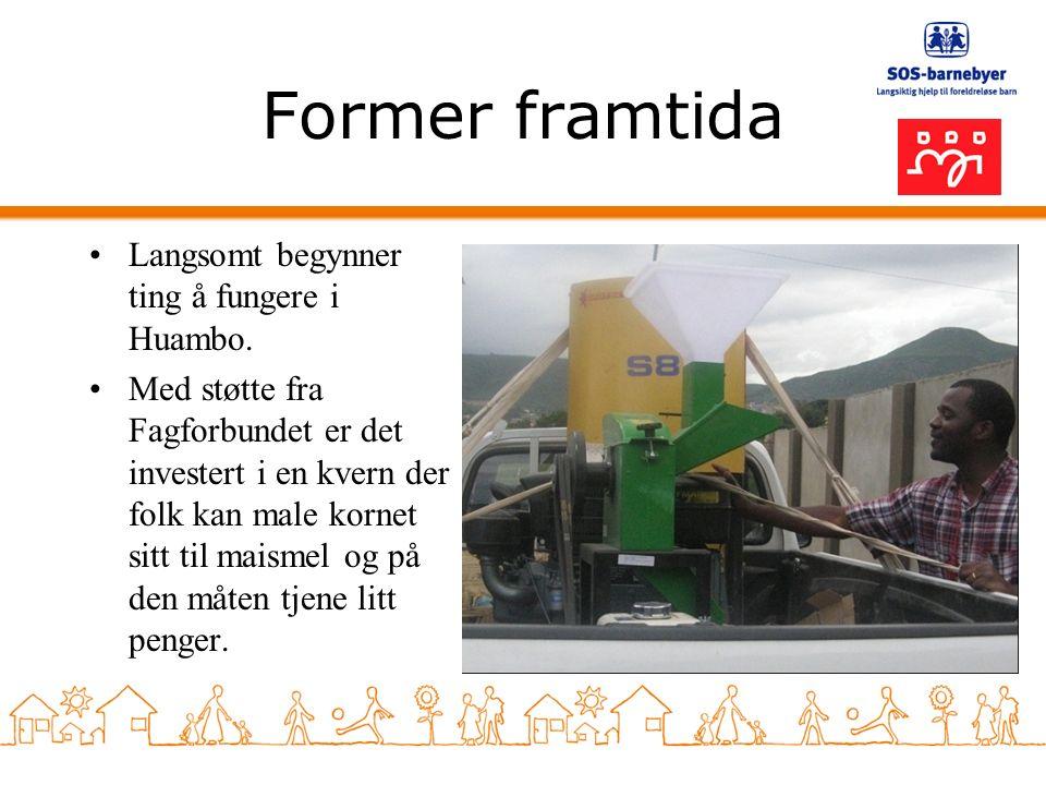 Former framtida Langsomt begynner ting å fungere i Huambo.