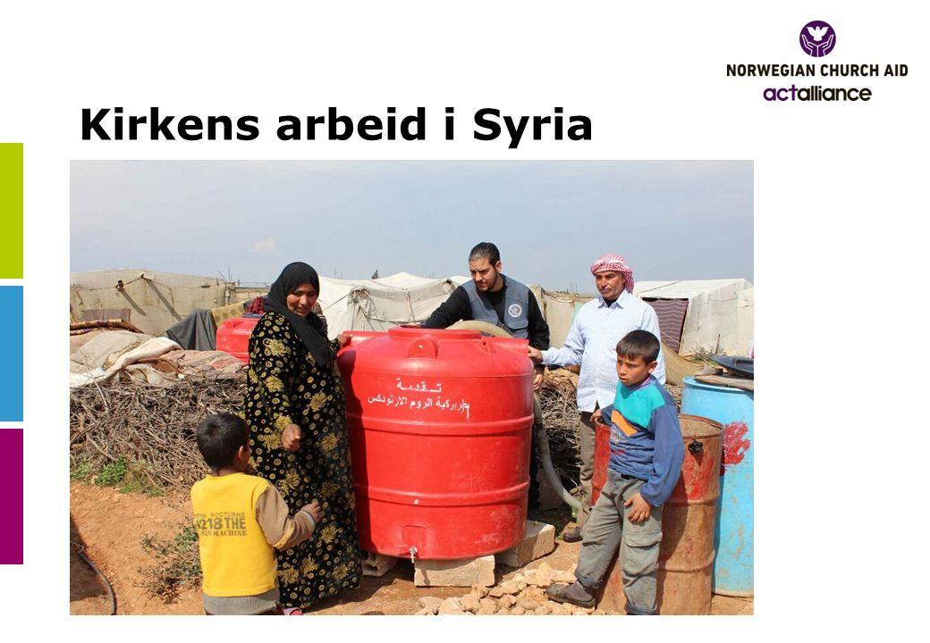 Kirkens arbeid i Syria