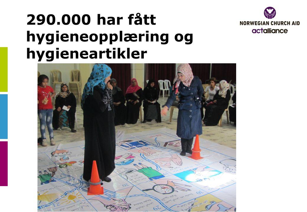 290.000 har fått hygieneopplæring og hygieneartikler