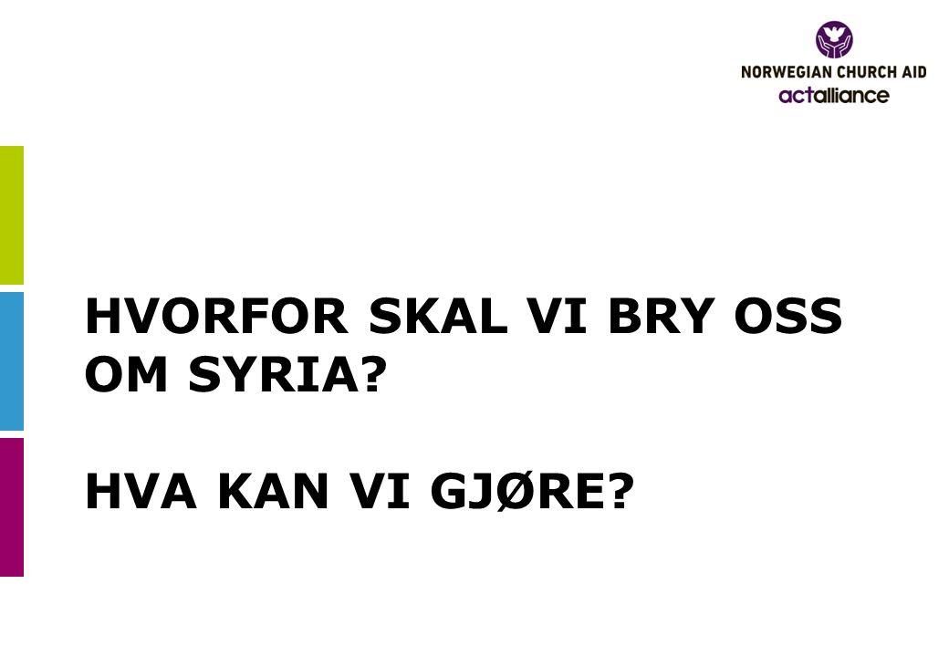 HVORFOR SKAL VI BRY OSS OM SYRIA HVA KAN VI GJØRE