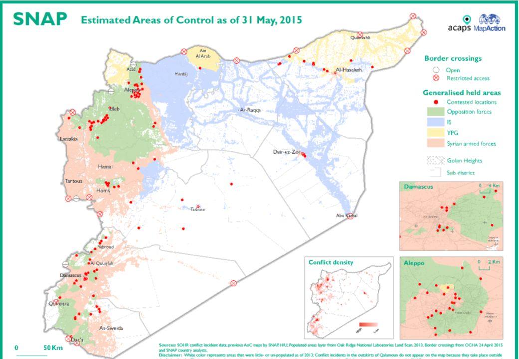 Den syriske befolkingen 22,5 mill syriere Men også: Kurdere Syriske turkmenn Assyrere Armenere Circassere Og flyktninger fra andre konflikter: Palestinere (4-500,000) Irakere (1,3 millioner)