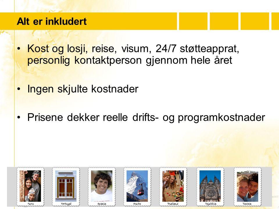 …..…. Youth For Understanding www.yfu.no Alt er inkludert Kost og losji, reise, visum, 24/7 støtteapprat, personlig kontaktperson gjennom hele året In