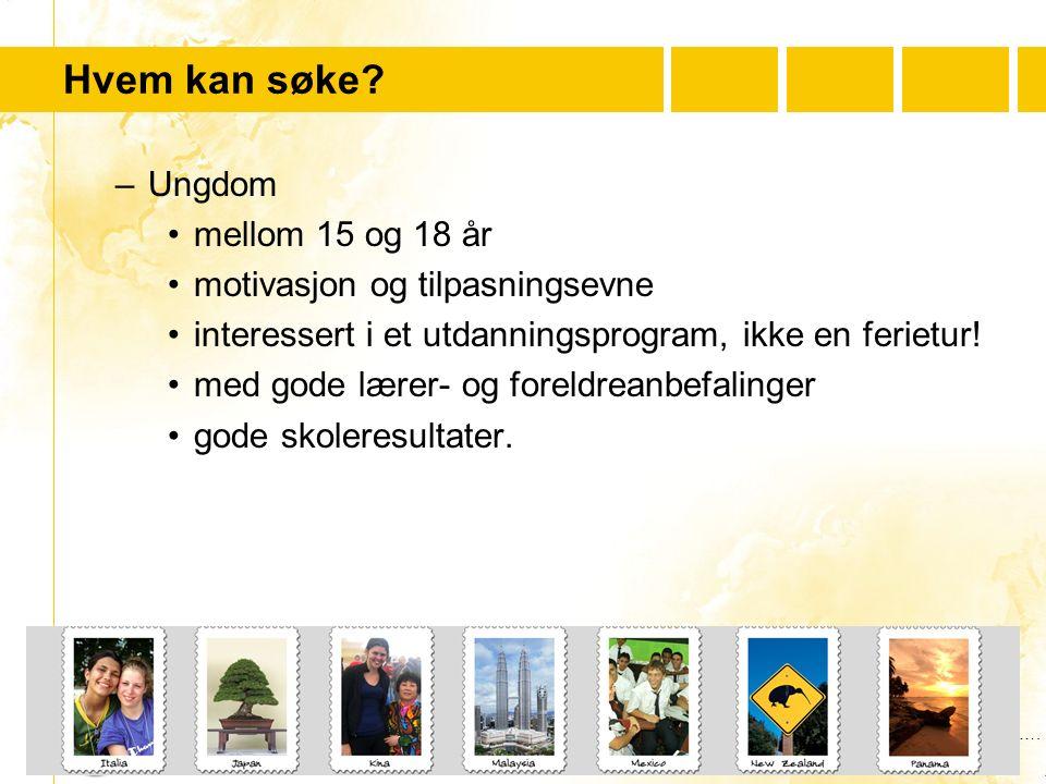 …..….Youth For Understanding www.yfu.no Hvem bør ikke søke.