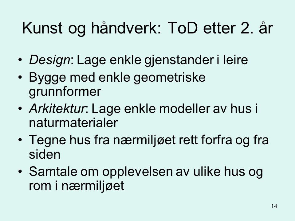 14 Kunst og håndverk: ToD etter 2.