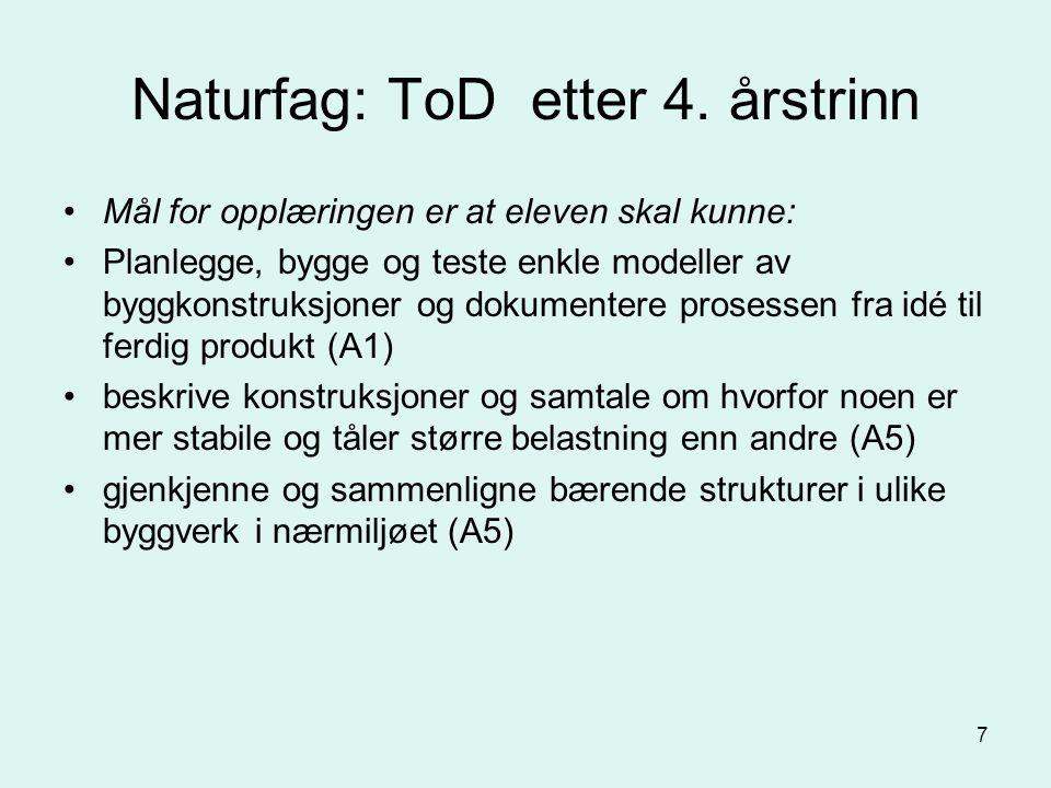 7 Naturfag: ToD etter 4.