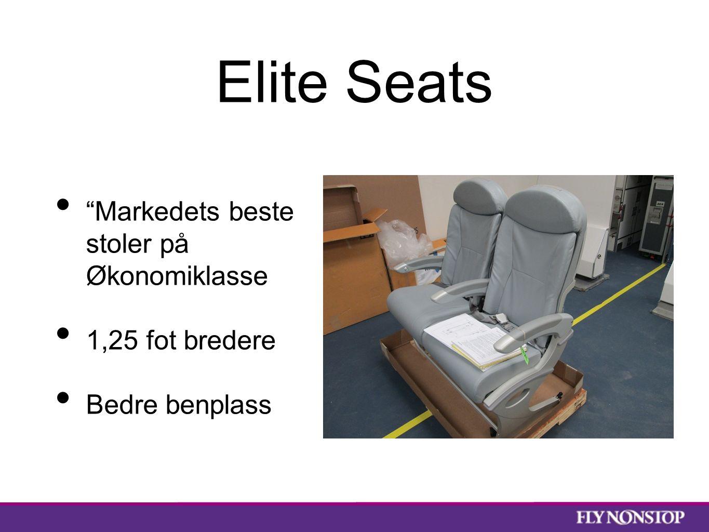 Elite Seats Markedets beste stoler på Økonomiklasse 1,25 fot bredere Bedre benplass