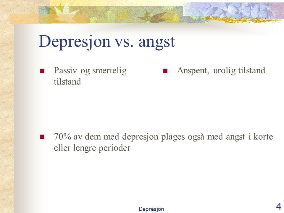 Depresjon 5 Kognitive symptomer Velger konsekvent den mest negative fortolkning i en tvetydig situasjon