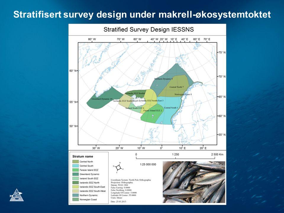 Stratifisert survey design under makrell-økosystemtoktet