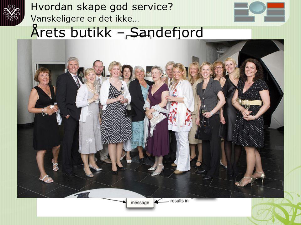 HVA HAR VI VEKTLAGT FOR Å YTE BEDRE SERVICE.