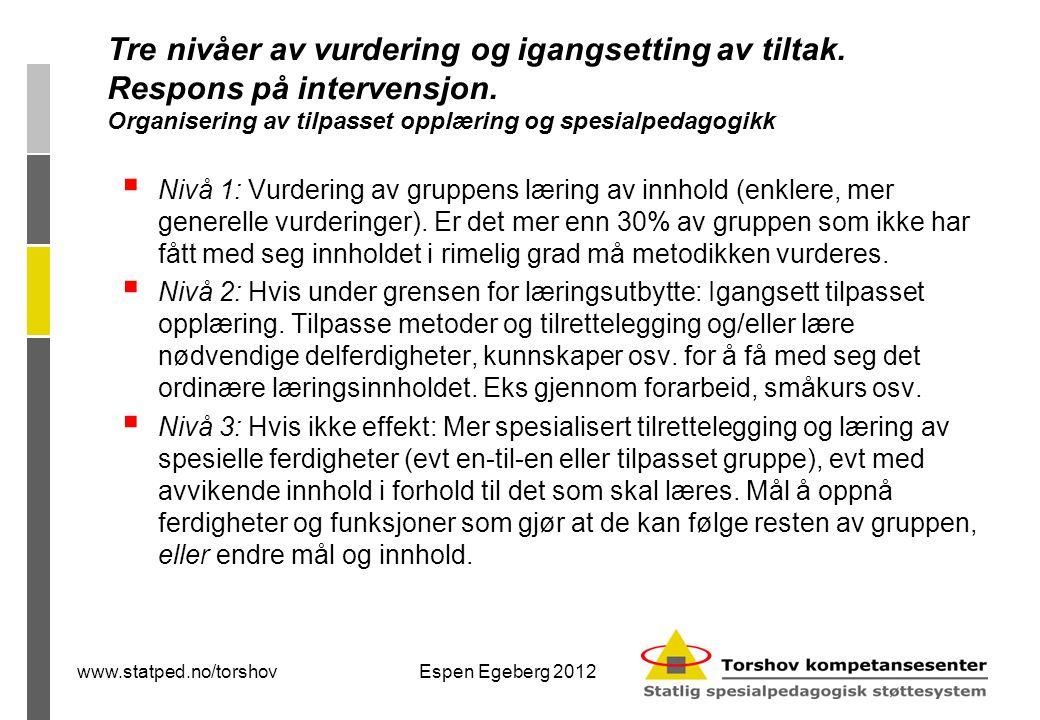 www.statped.no/torshovEspen Egeberg 2012 Morsmålsaktiviserende læring  Hva er ferdigheter på og gjennom førstespråk, og hvordan tilrettelegges for å utnytte dette i opplæringen.